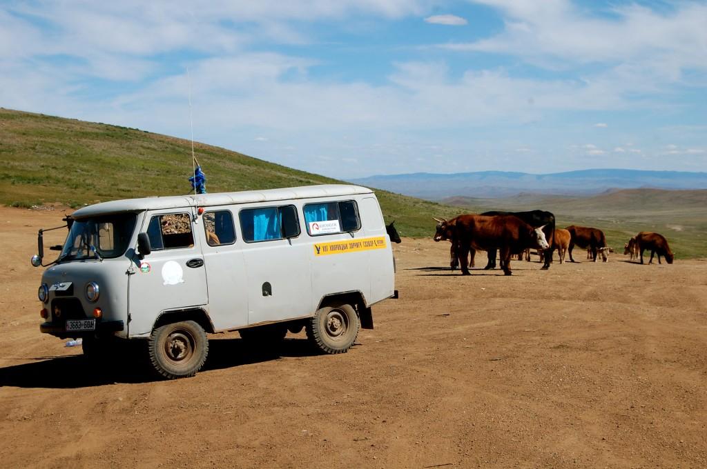 Touring van in Mongolia