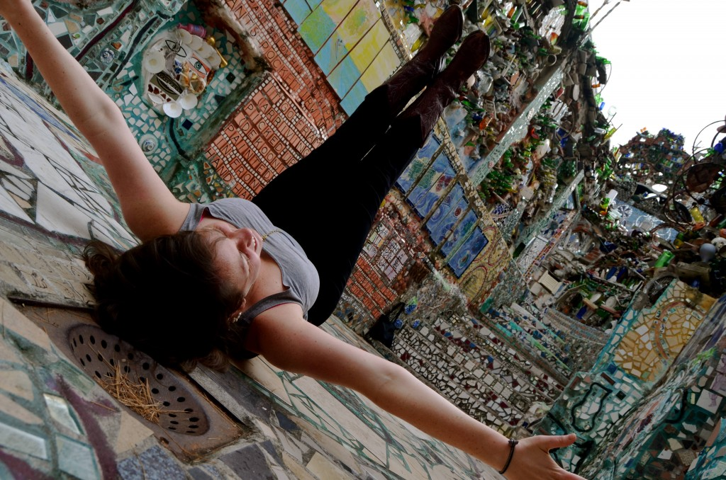 girl at Philadelphia's Magic Gardens