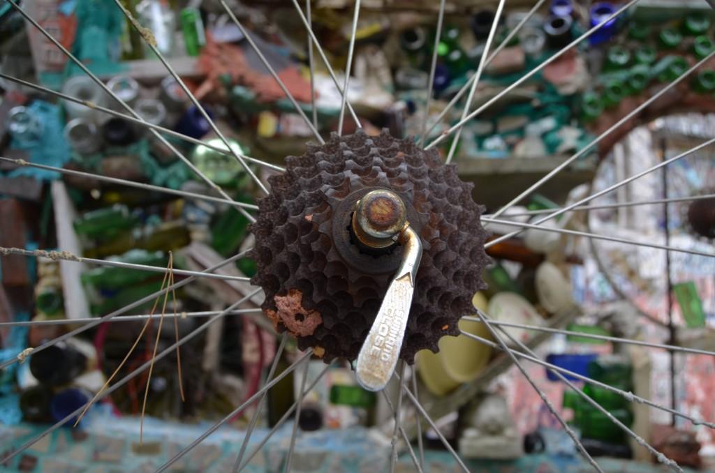 Bike wheel at Philadelphia's Magic Gardens