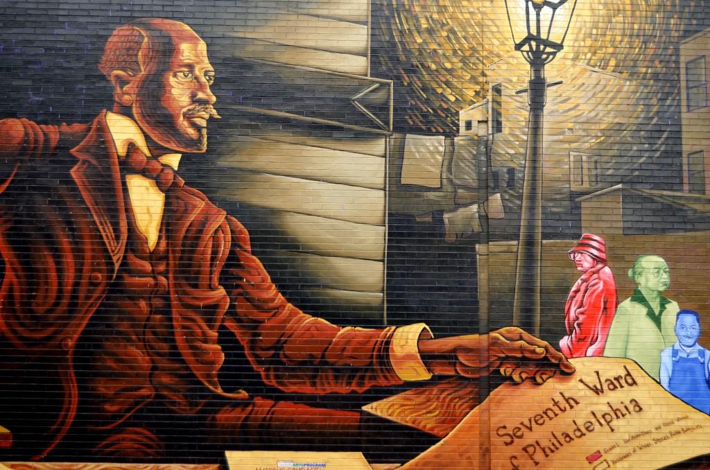 Wall mural in Philadelphia, PA.