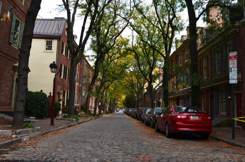 Old street in Philadelphia, PA.