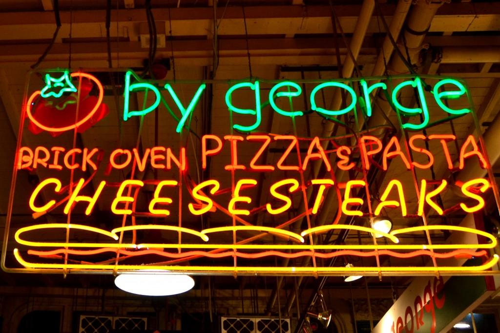 Philadelphia Cheesesteak sign
