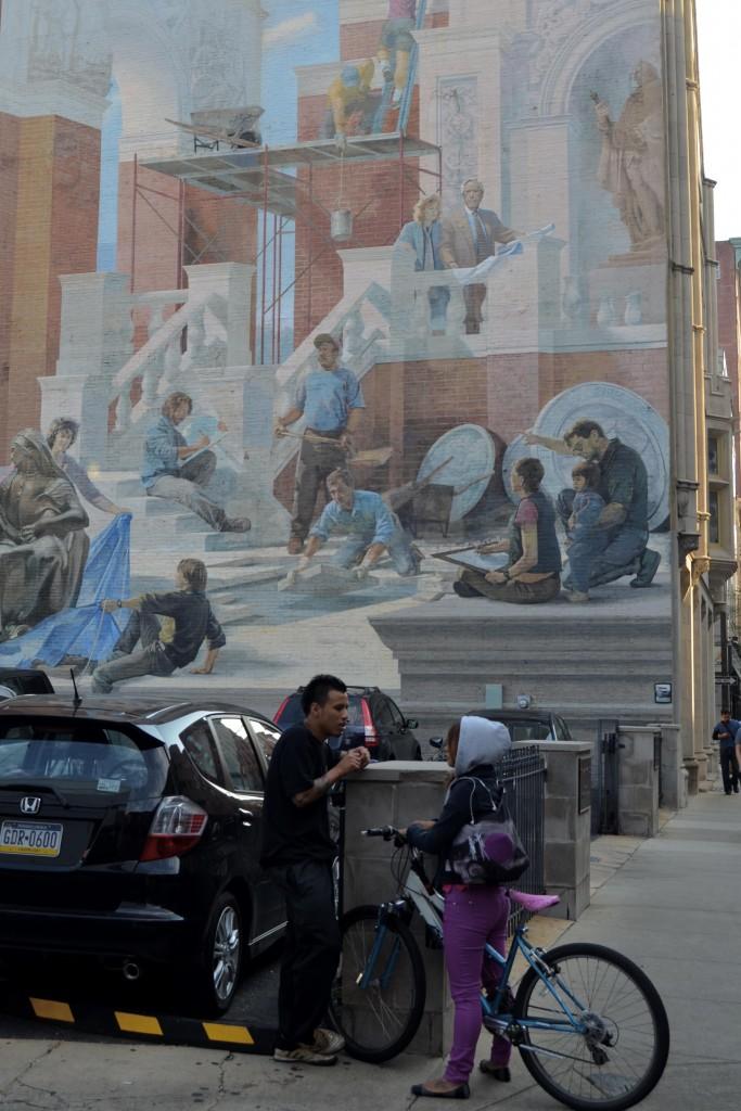 Mural in the old city, Philadelphia, PA.