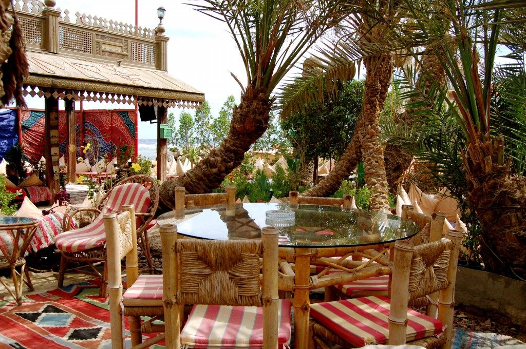 Beachside restaurant in Dahab, Egypt