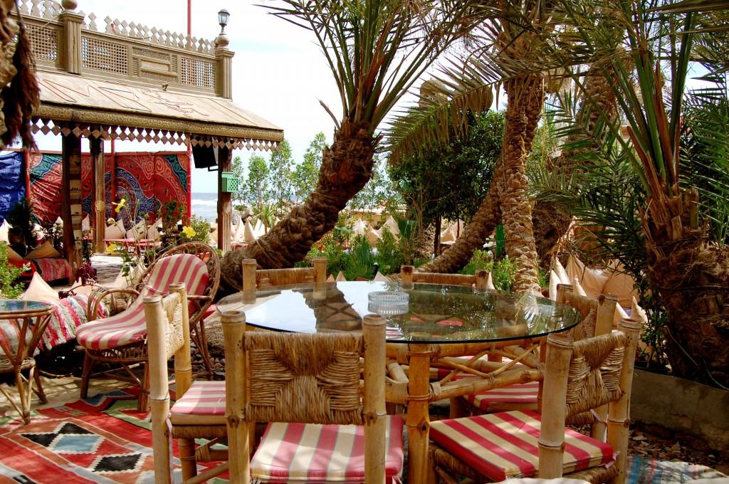 Beachside restaurant in Dahab, Egypt