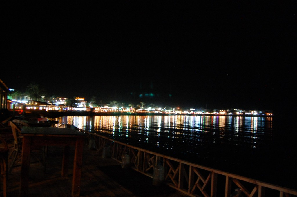 View of the Red Sea from Dahab restaurants