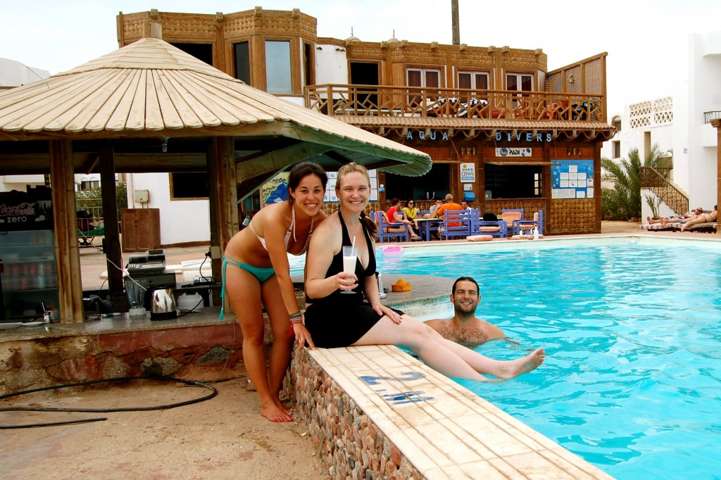 Aquadivers pool in Dahab, Egypt