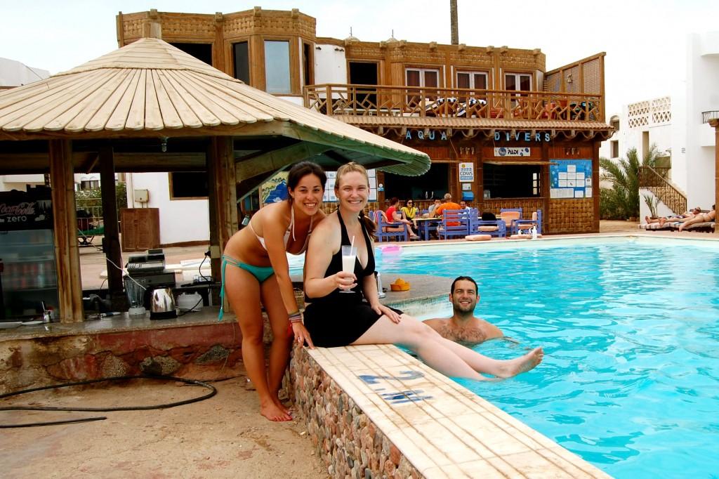 Aquadivers pool in Dahab, Egypt