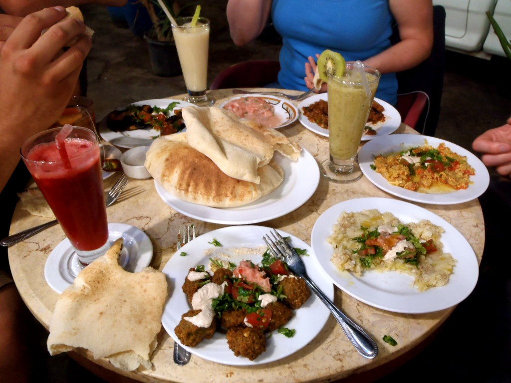 Budget food at Yum Yum in Dahab, Egypt