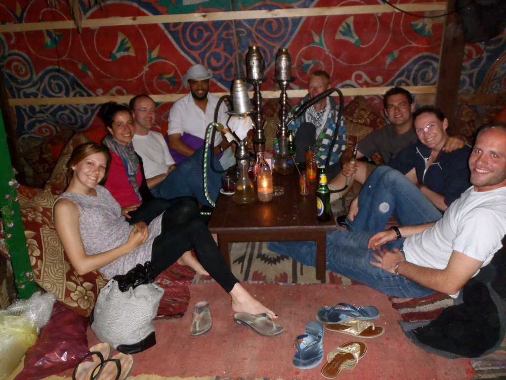 Hanging with friends in Dahab, Egypt