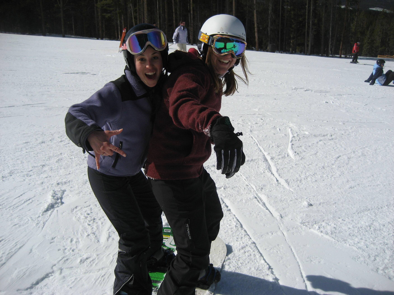 Mitch & me snowboarding