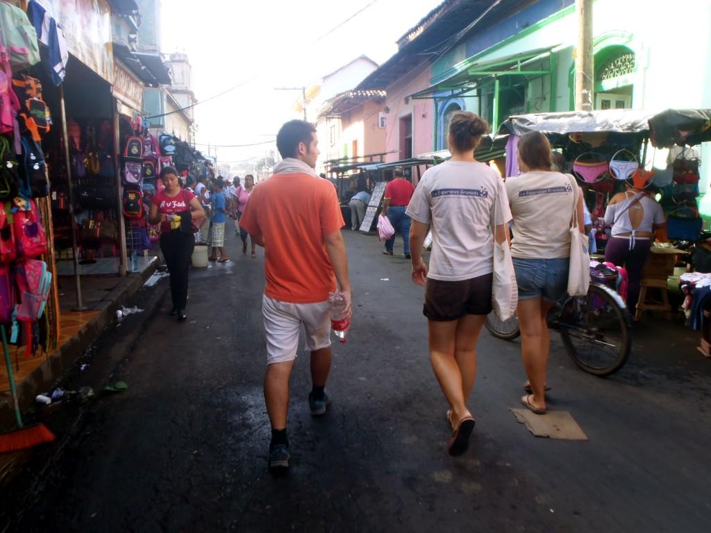 Market street, Granada, Nicaragua