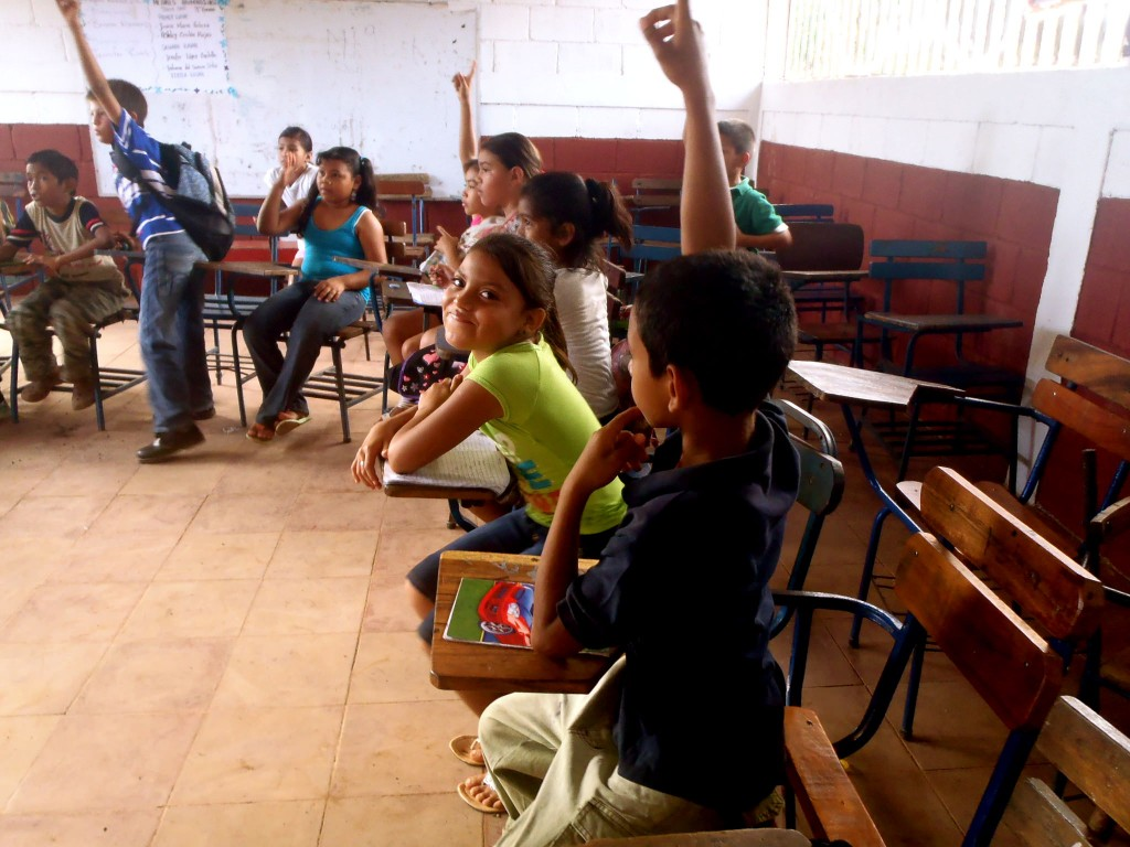 Students in Nicaraguan classroom