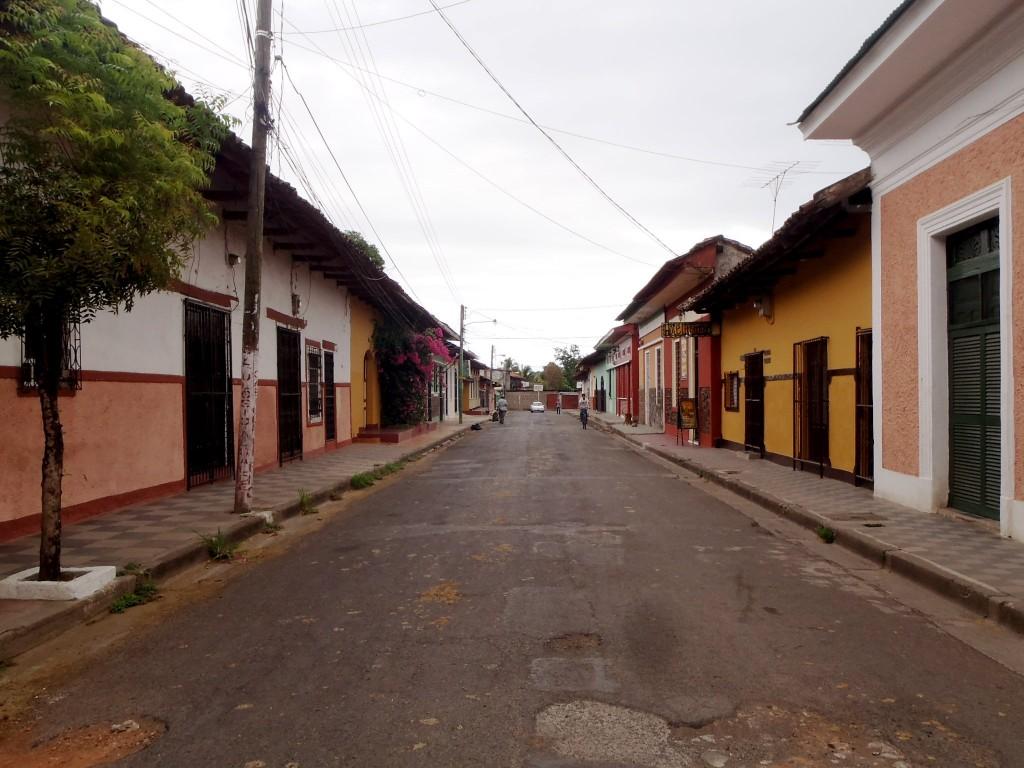 Colorful street in Granada, Nicaragua