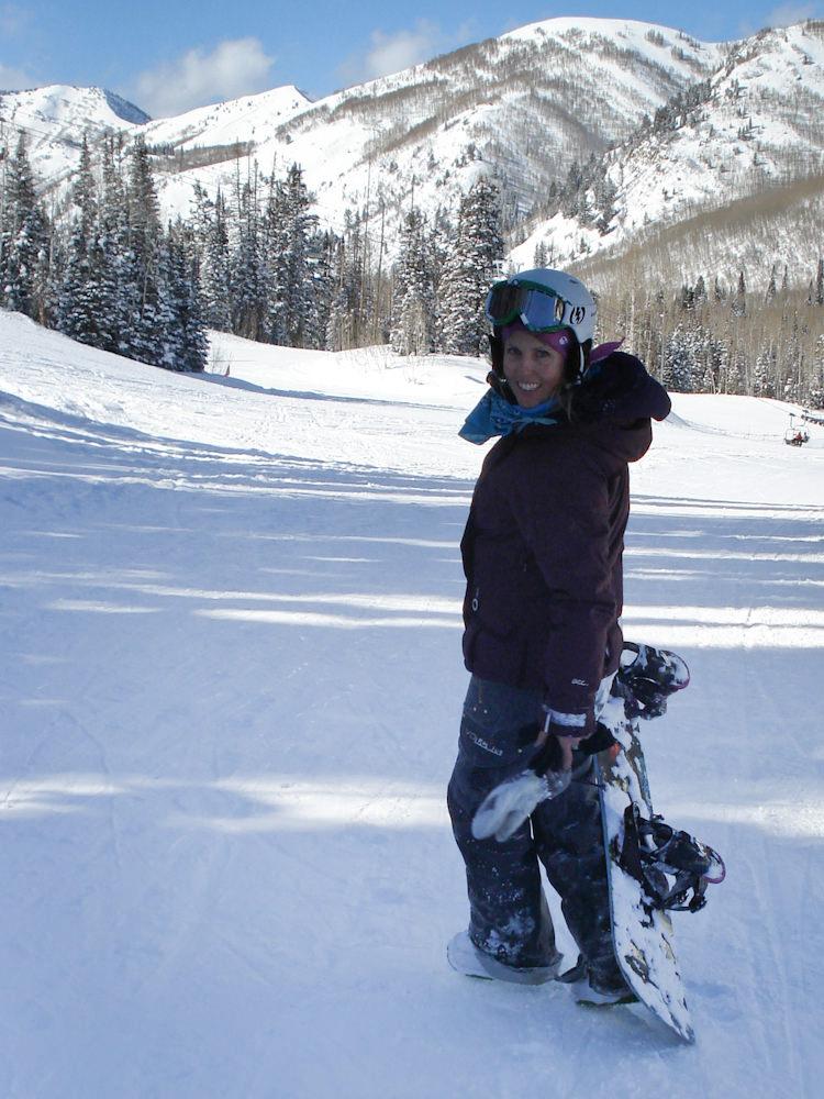 Angela Jacobus - snowboarding