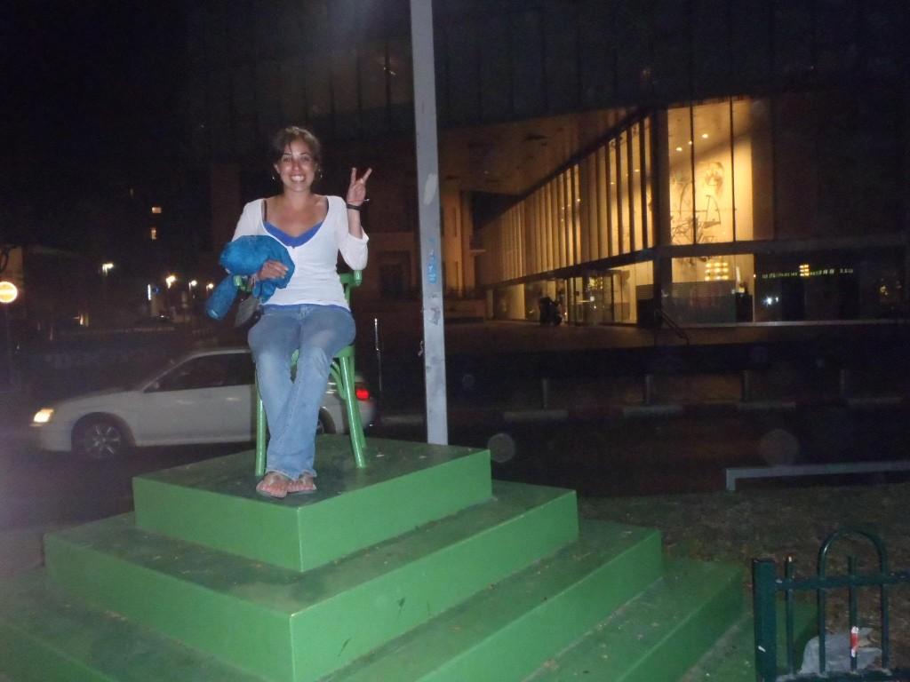 Chaco flip flops in Tel Aviv