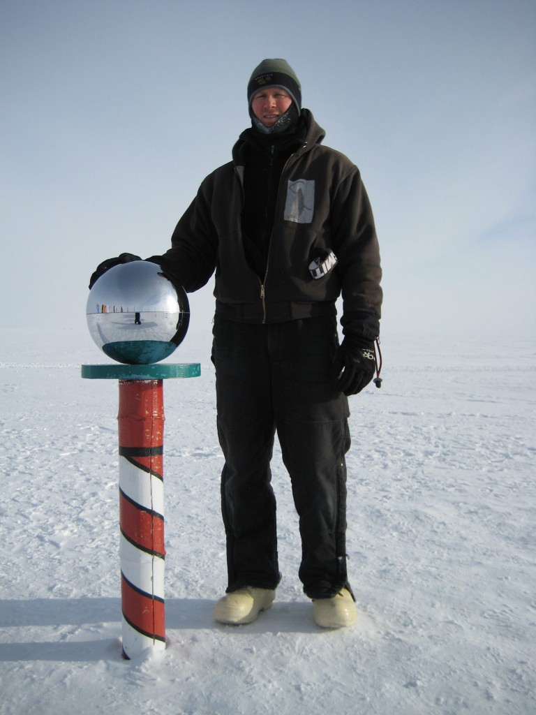 Standing at the South Pole, Antarctica