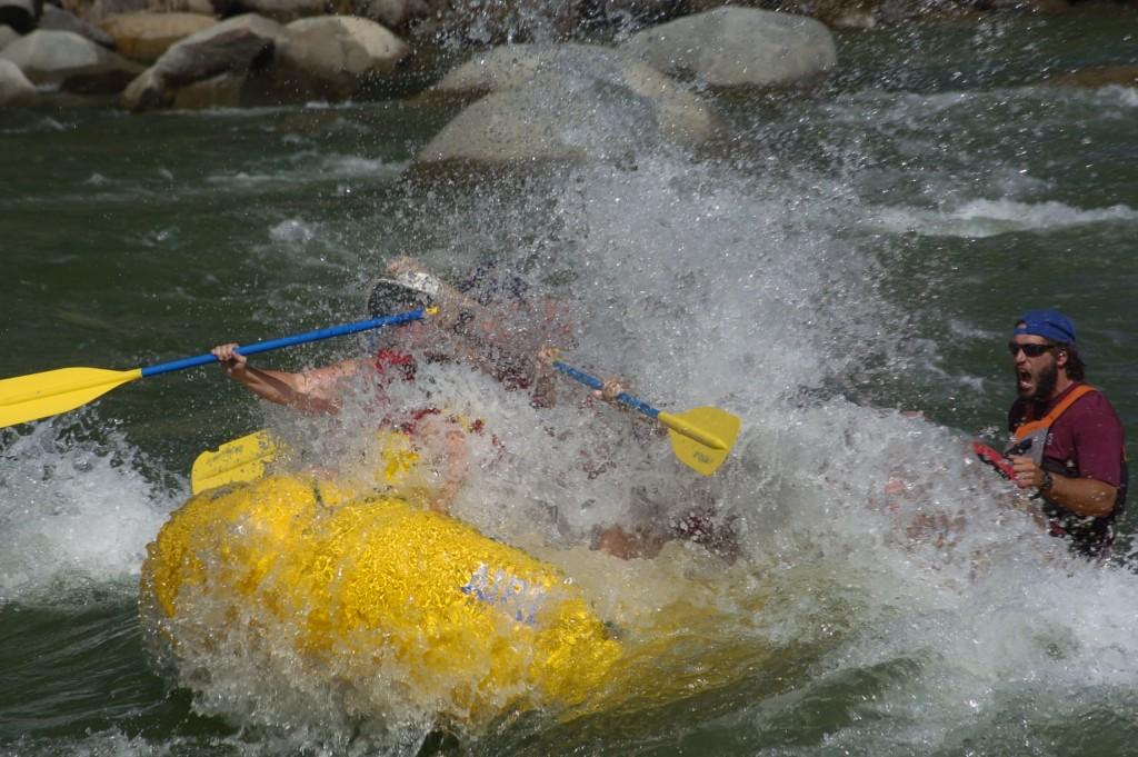Raft guiding