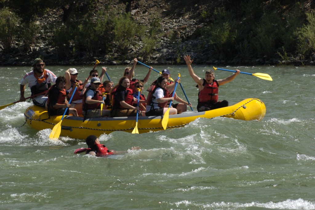 Working as a raft guide in Montana