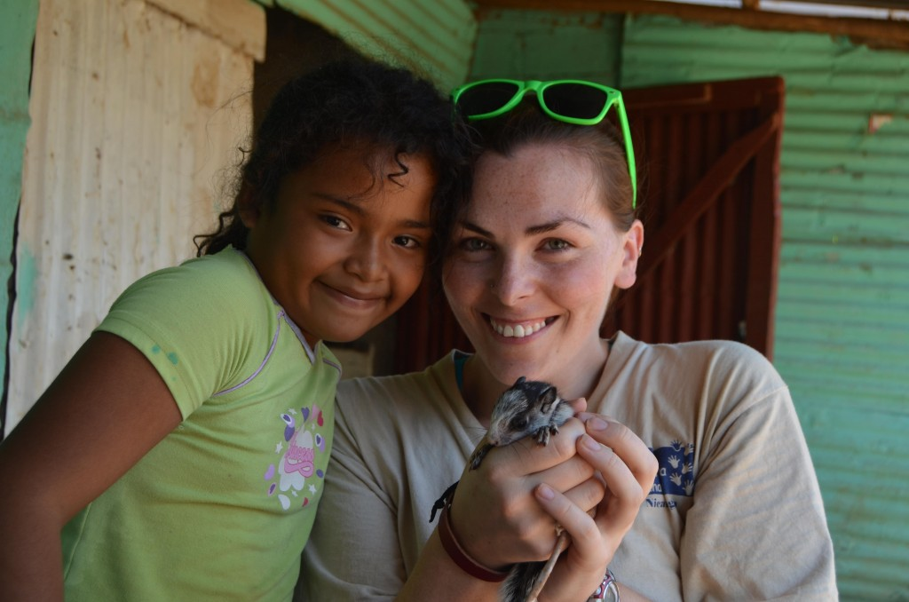 Nicaraguan girl with squirrel