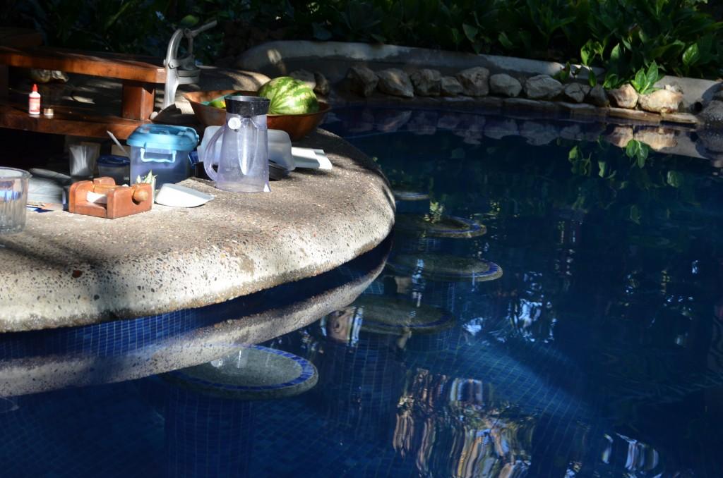 Pool bar at Harbor Reef Surf Resort in Nosara, Costa Rica