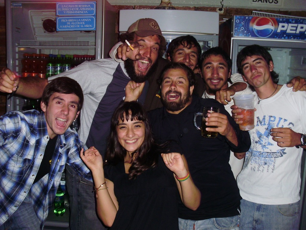 With friends in Argentina
