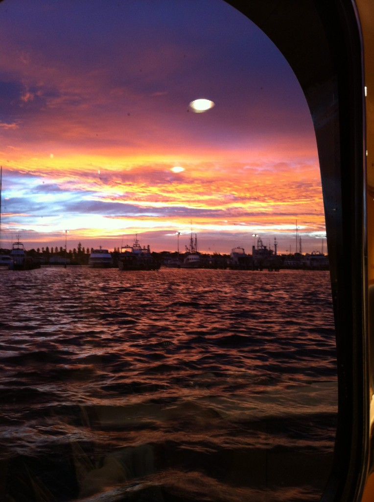 View from a porthole in Fremantle, WA, Australia