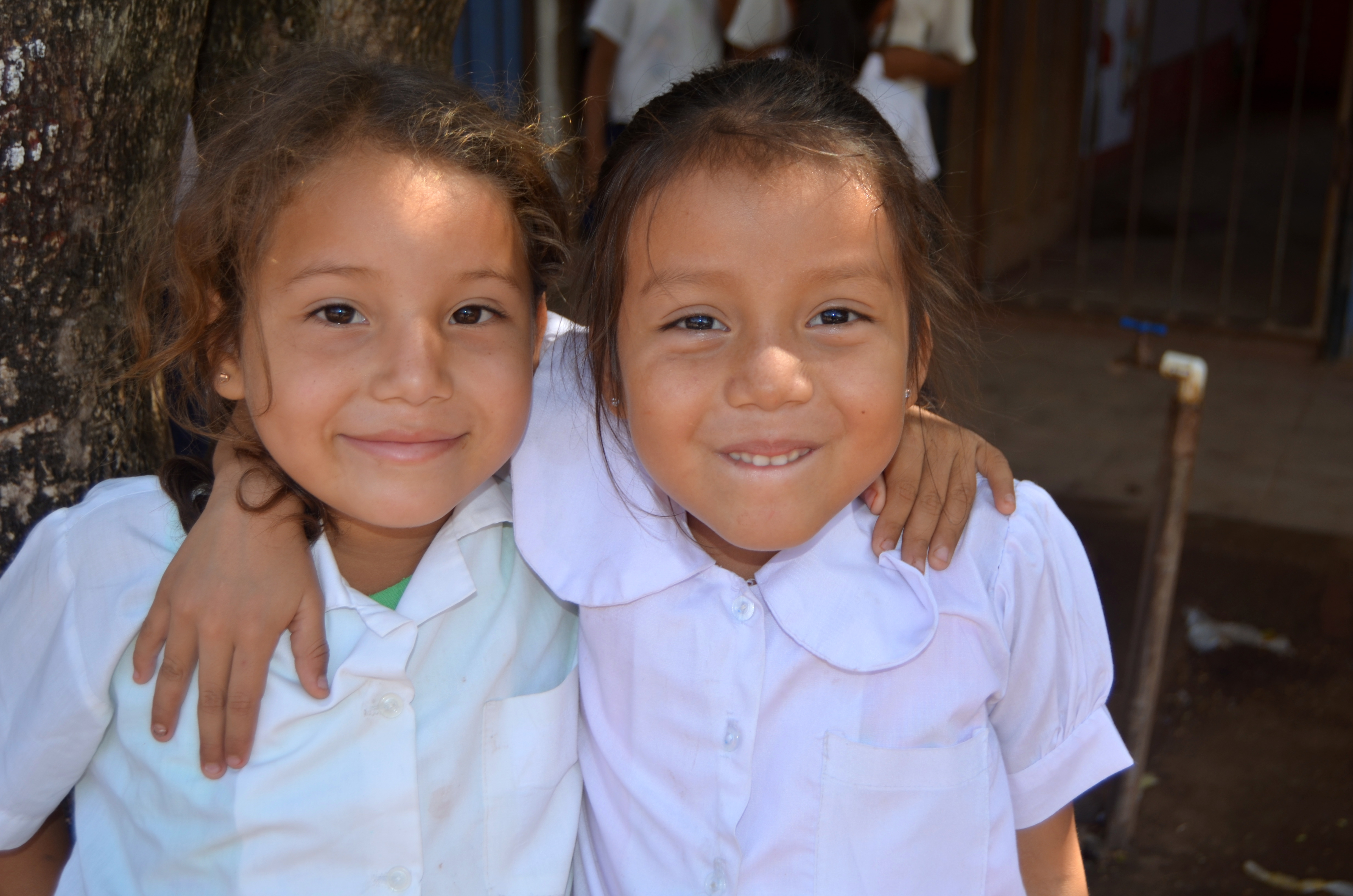 First grade girls in Nicaragua