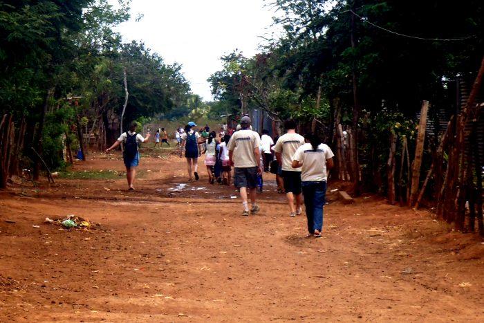 The walk to summer school.