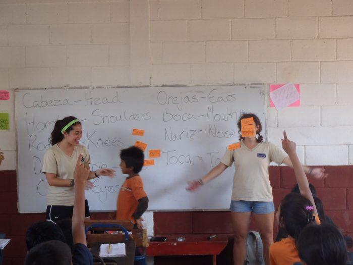 Teaching English during summer school.