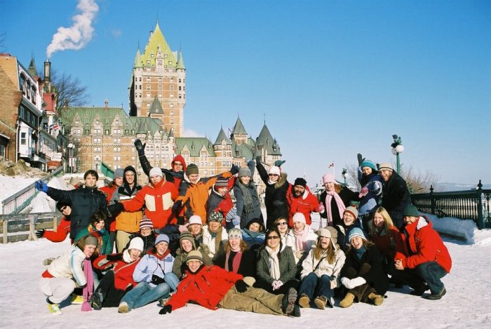 Ian's team of tour guides in Quebec City.