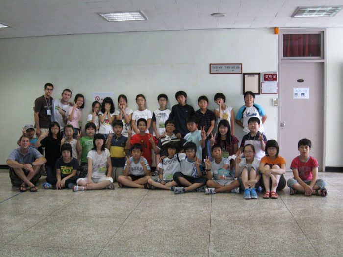 Ian teaching in Seoul, South Korea