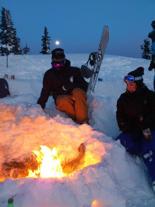 Fire pit on Whistler. The life.
