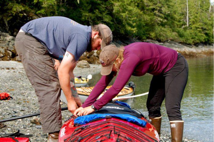 Kayak camping.