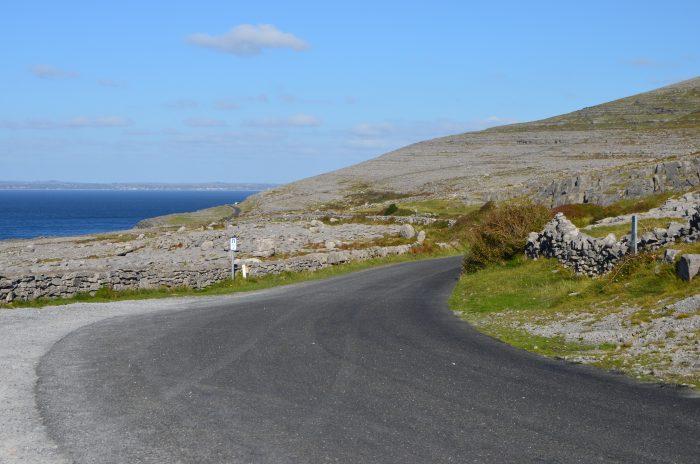 Driving through The Burren.