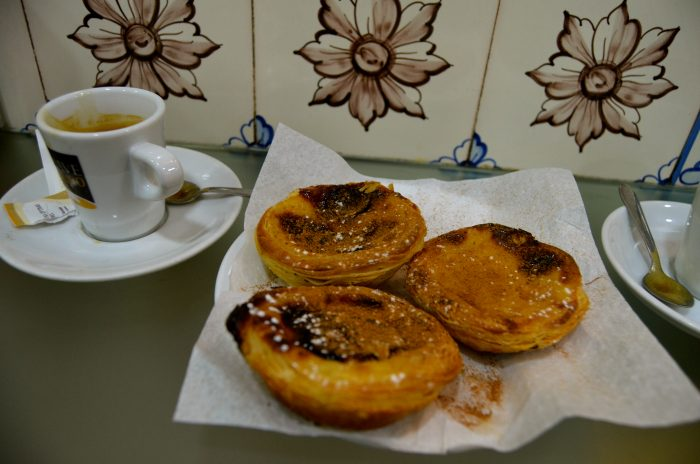 Pasteis de nata and espresso.