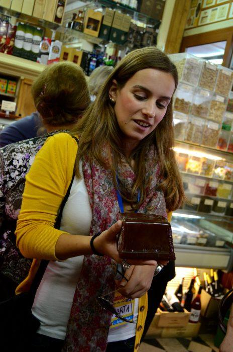 Our Lisbon food tour guide, Marta.