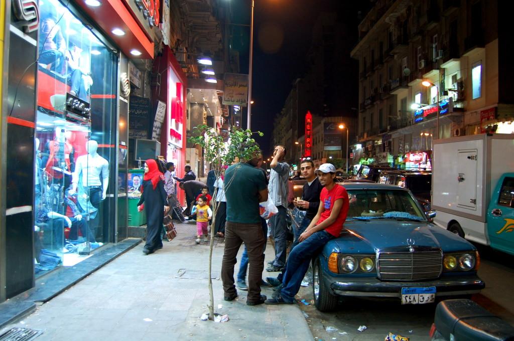 street scene cairo egypt
