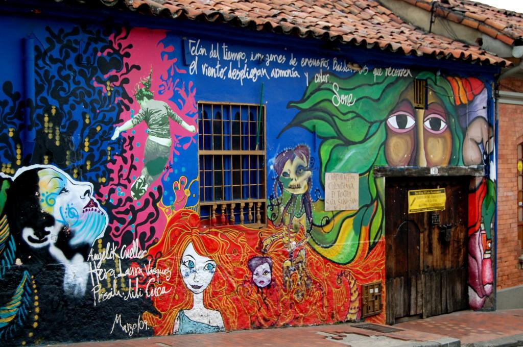 Street art in Candelaria, Bogota, Colombia