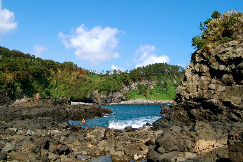 Hidden beach on Jeju Island
