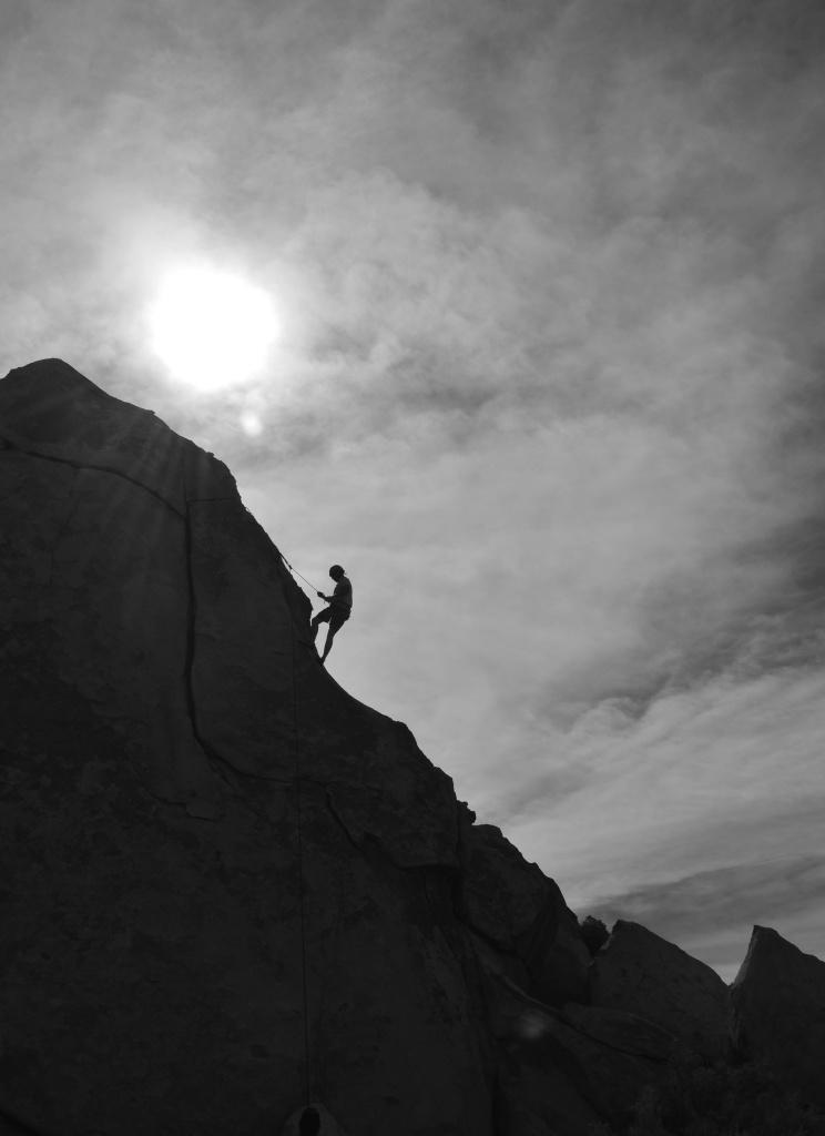 Climber in Joshua Tree National Park