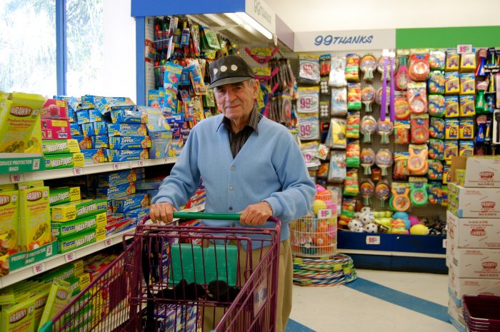 Grandpa at the 99 cent store