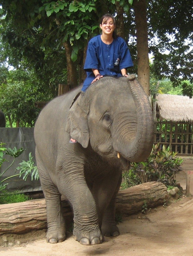 Wanalee at Chiang Thai Elephant Center