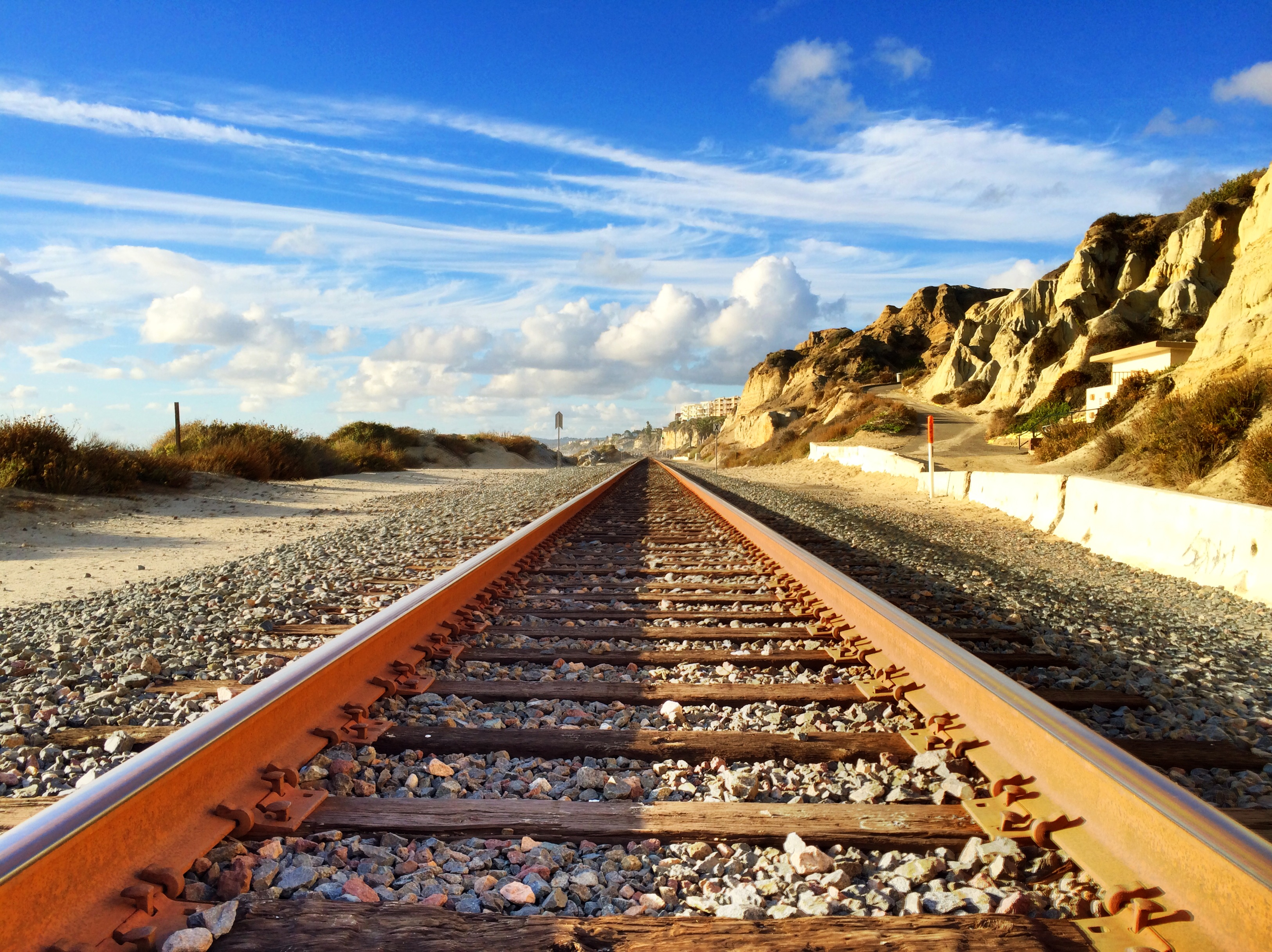Railroad tracks in San Clemente State Beach