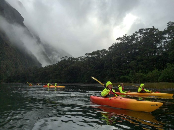 Kayaking tour with Southern Discoveries.
