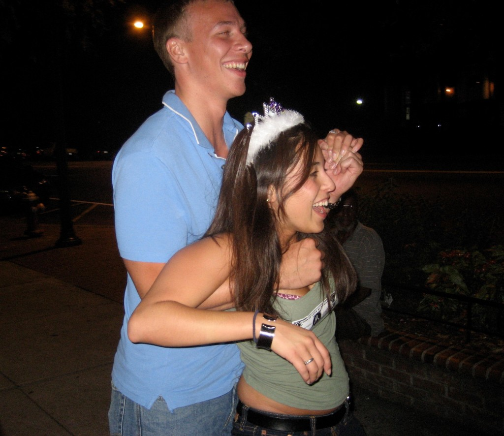 Holding me up, literally, on my 21st.