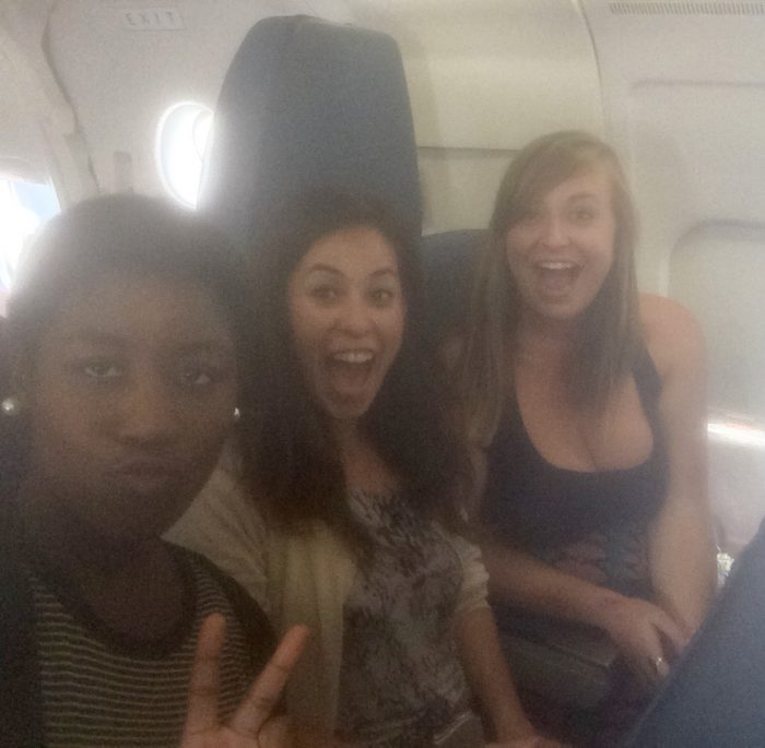 With new coworkers on a plane to Charlotte!