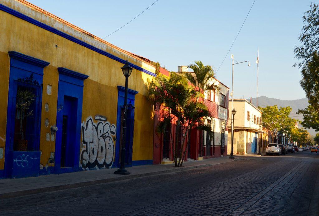 oaxaca mexico colorful street