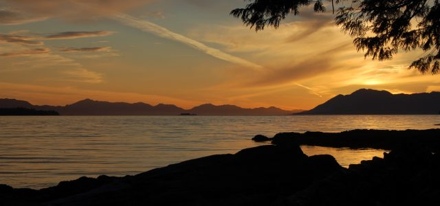 sunset Ketchikan Alaska